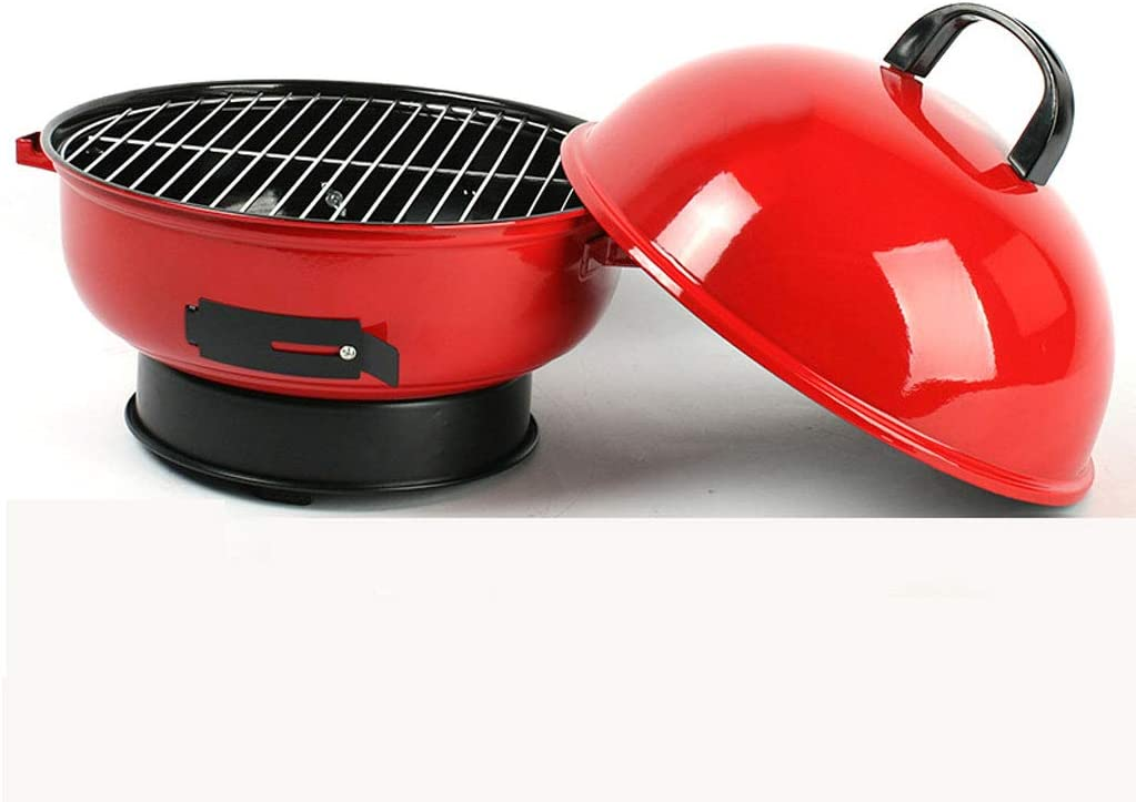 ZJJ BBQ Barbecue free shipping Grill Outdoor Portable Charcoal Ap Round low-pricing