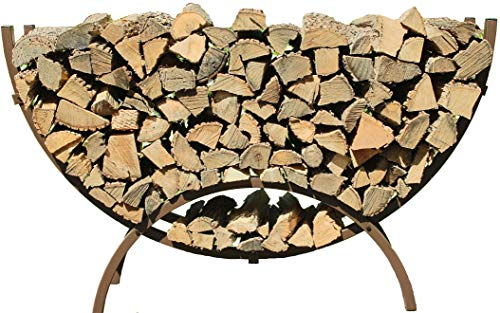 Review Woodhaven The 5 Foot Brown Crescent Firewood Rack
