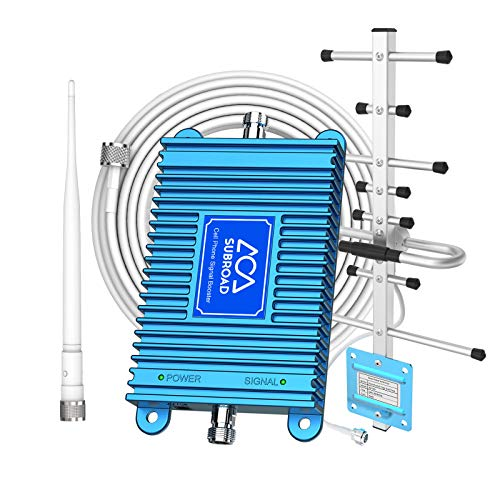 Cell Phone Signal Booster Repeater for All U.S. Carrier Verizon AT&T T-Mobile 2G 3G 4G LTE Voice 850/1900MHz Dual Band 5/2/25 Mobile Phone Signal Booster for Home