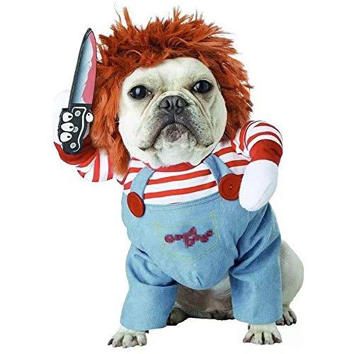 Leonnn Fatal Doll Pet Costume, Halloween Dog Costume Adjustable Dog Cosplay Costume Fun Fatal Doll...