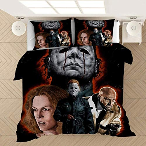 QWAS Vampire Serie Juego de ropa de cama 3D Traummmuster super suave y cómodo, sin edredón (V01,220 x 240 cm + 50 x 75 cm x2)