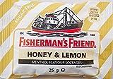 Fishermans ami Miel & Citron Menthol Saveur SUCRE Pastilles GRATUIT - 12 x 25g