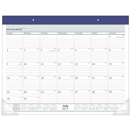"""AT-A-GLANCE Academic Desk Pad Calendar, July 2017 - June 2018, 22"""" x 17"""", Two-Color (AYST2417) Photo #4"""
