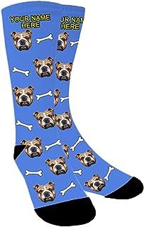 Aolun, Calcetines Personalizados Foto,Personalizable Calcetines,Ponga la Foto de la Cara del Perro, el Gato y Otras Mascotas en Calcetines