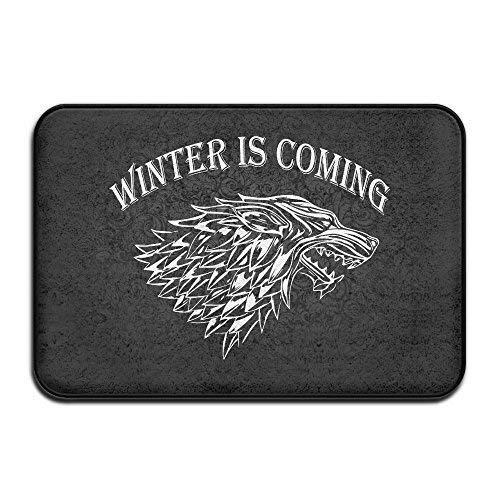 N / A Felpudo Absorbente,Wolf Winter Is Coming Alfombrilla Antideslizante 60X40Cm