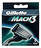 Gillette Mach3 - Cuchillas de recambios, 8 recambios