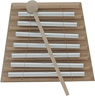 Nuxn Children Toddler 7-Tone Tabletop Chimes Kids Metal Xylophone Educational Development Musical Toy Percussion Instrument Piano with Child-Safe Wooden Mallet