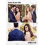 yyfq Manta Personalizada con Foto y Texto,Personalizada Pareja Mantas para Cama,Personalizado con Foto Regalos (80x120cm/31X47inch)