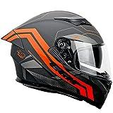 cgm casco integrale, 316y speed racer, grafite arancione opaco, m (57-58cm)
