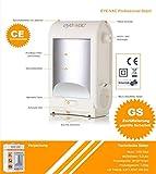 EyeVac Professional Elektrischer Mülleimer Abfalleimer mit Sensor Automatischer Staubsauger 1400 Watt 6,2L (Weiss) - 4
