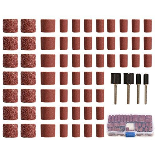 ILS 100 Stuk Schuurpatroon Rolschuur- en Polijstset voor Dremel Rotary Tool met 1/2-1/4 Inch Smoothing Chuck, Korrel Grootte: 60/120/320