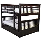 Sydney Full Over Full Bunk Bed with Drawers Espresso