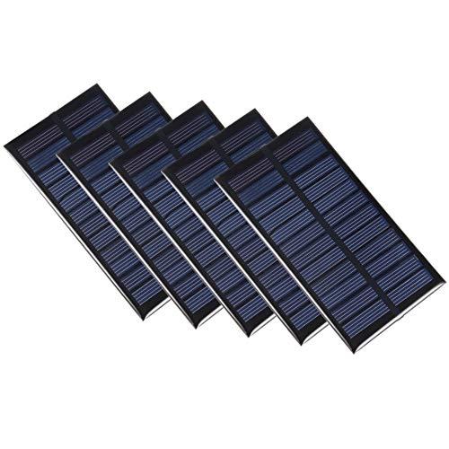 sourcing map 5 Stück 1 W 6 V kleines Solarmodul DIY Polysilicon für Handy Spielzeug Ladegerät