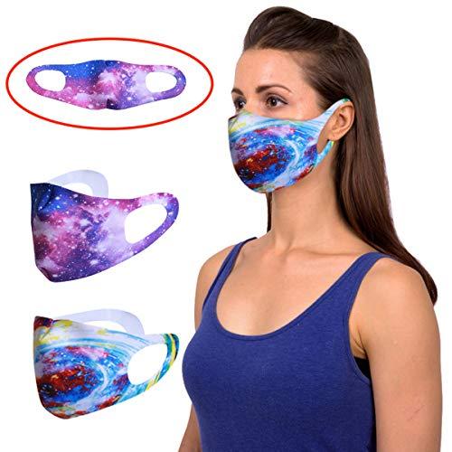 Cloodut 2 x Freizeit Sport Training Mundschutz Staub Pollen Fashion Gesichtsschutz, Baumwolle Protect Stoffschlauch Einstellbar Wiederverwendbar