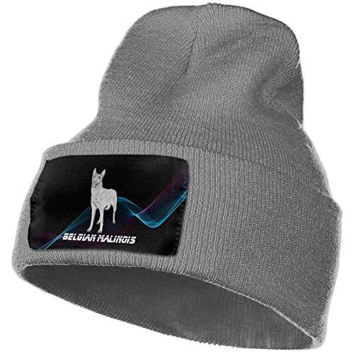 AEMAPE Belgische Malinois Hund Unisex Strickmütze Mode Schädelkappe Strickmützen