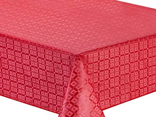 Home Direct Tovaglia in Tela Cerata plastificata Rettangolare 140 x 240cm Rossa