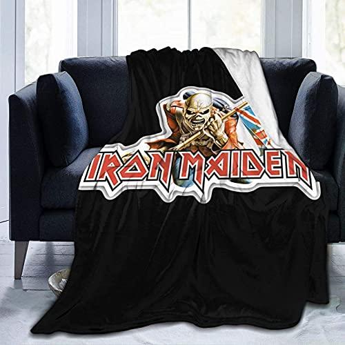 Hirola Iron Maiden - Manta de forro polar ultra suave