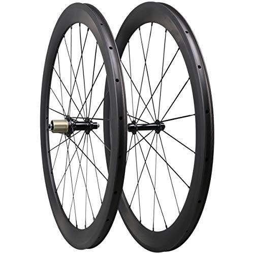 Triaero 50mm 700C Aero Carbono Carretera Bicicleta Rueda Clincher 23mm Anchura Sapim CX-Ray Radios