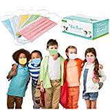 CHYOU 100PCS Disposable 3-Layer Face Màsc Bandanas Multicolor Face Bandanas Dust-Proof for Kid…