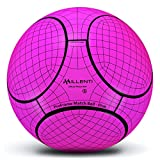 Millenti Soccer Balls ProFrame-Match Ball Training Pink Soccer Ball Size 5 - Thermal Bonded for Women and Men
