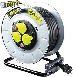 MasterPlug otlf2516rr3ipsl-px Elektrische-Kabeltrommel Baustelle, 3000 W, 230 V, Metall, gelb/schwarz, 25 m