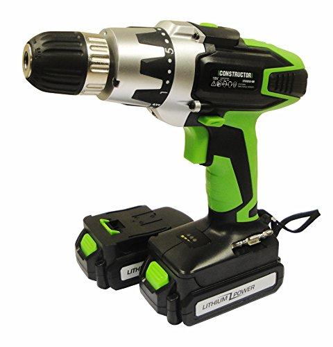 Elem Technic CTC142LI1-BM2B drill Negro, Verde, Plata 1000 RPM - Taladro eléctrico (1000 RPM, 24 Nm, Corriente alterna, 220-230 V, 50 Hz)