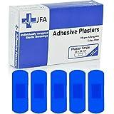 JFA - Confezione da 100cerotti, 22 x 72 mm, dimensione grande, colore: blu...