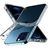 iPhone 12 Case, iPhone 12 Pro Case, Aeska Ultra [Slim Thin] Flexible Clear TPU [Scratch-Resistant] Gel Rubber Soft Skin Silicone Protective Case Cover for iPhone 12/iPhone 12 Pro 6.1'' (Clear)