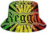 NA Sombrero unisex de algodón lavado para pesca de verano, para exteriores, hamburguesas, patatas fritas, Hombre, color Reggae Jamaican Music Tie Dye, tamaño talla única