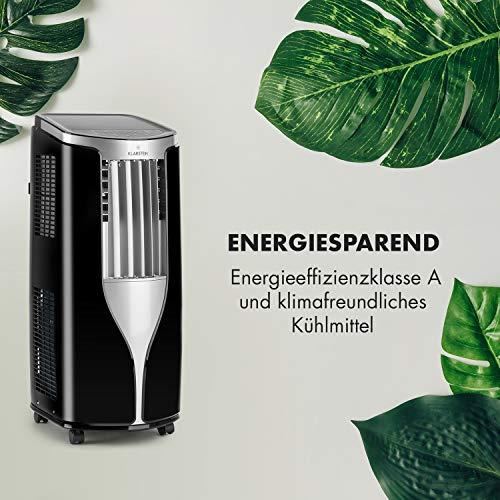 Klarstein New Breeze 7 - Klimaanlage Klimagerät Ventilator, 2,6 kW Kühlleistung,7.000 BTU/h, 16-30 °C Temperatur, 29,5x77x36 cm, 4-stufiger Ventilator,Timer, Fernbedienung, schwarz