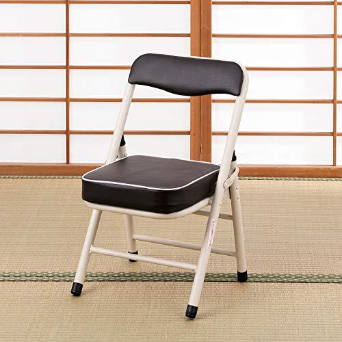 武田コーポレーション【折りたたみ椅子・パイプ椅子・チェア・キッチンチェア】背付き折りたたみチェアー・ロータイプ