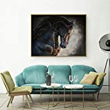 N / A Canvas Painting Animal Posters and Abstract Horse Prints Are Used For Home Bedroom Living Room Decoration Frameless 40x50cm