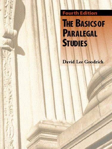Basics of Paralegal Studies, The