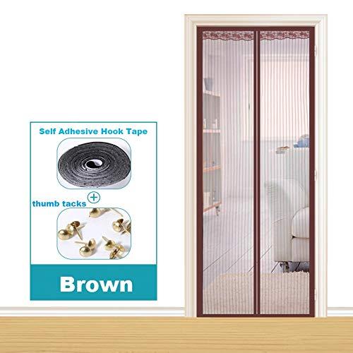 Dormitorio de la casa de verano cortina anti-mosquitos absorción magnética manos libres puerta blindada electromagnética mejorada, pantalla de la puerta de la cortina anti-mosquitos A3 W90xH210