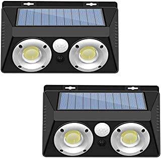 LightingWill New Solar Powered LED Wall Light, Motion Sensor Light with 120° Angle, Outdoor Waterproof Solar Wall Lights f...