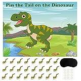 FEPITO Pin The Tail beim Dinosaurier Spiel mit 24 Stück