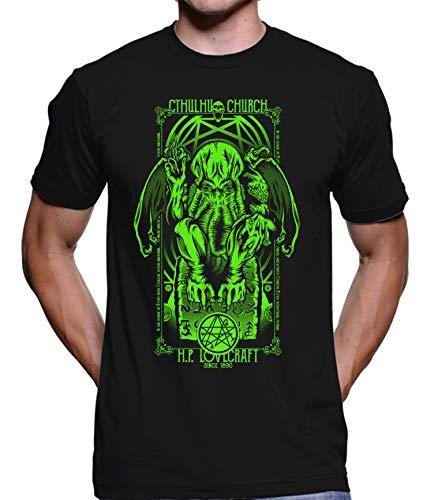 Camiseta Camisa Cthulhu Hp Lovecraft 4076 100% Algodão (Preto, GG)