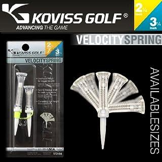 "KOVISS Golf Velocity Spring Golf TEE 2 1/4 + 3 1/4"""