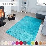 Muutos Carpet 140x220cm, Langflor Carpet, Flauschig Weiche, Strapazierfähig, für Wohnzimmer, Schlafzimmmer, Kinderzimmer, Esszimme - Blau