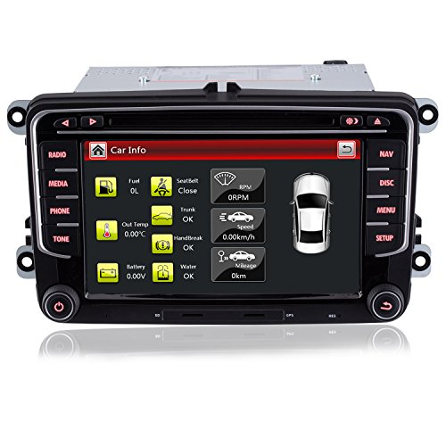 iFreGo 7 Zoll 2 Din Autoradio Für VW Golf 5/6,Für Tiguan,Für Caddy Für Polo, Autoradio GPS Navigation,DVD CD Player,Autoradio DAB+, Autoradio Bluetooth,Windows CE 6.0