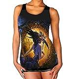 Photo de Wild Star Hearts Midnight Dancer Gothic Occult Fantasy Débardeur Noir pour Femmes - L