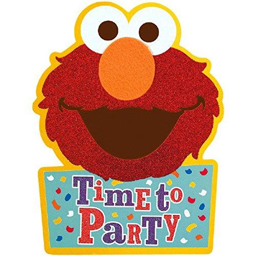 Amscan Sesame Street Elmo Invitations