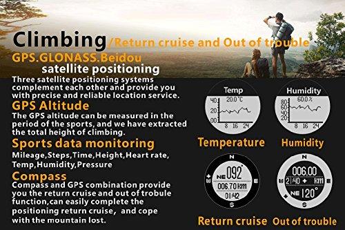 OOLIFENG GPS Reloj Inteligente, Fitness Tracker con Altímetro Barómetro