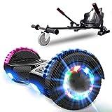NEOMOTION Hoverboard Enfant de Overboard 6.5 Pouces et Hoverkart Gyropode avec Bluetooth LED Flash...