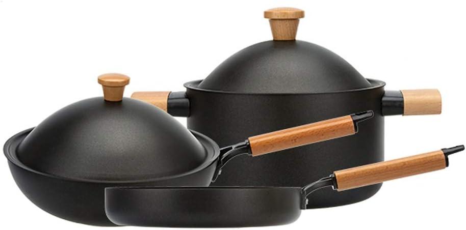 WPYYI Creative Pot Ranking TOP3 Set Popular Non Stick Cooking Techno Pan Fume Without