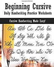 Beginning Cursive: Daily Handwriting Practice Worksheets