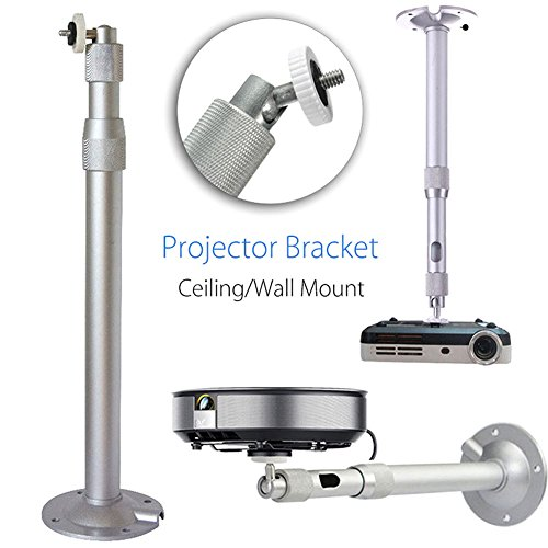 Alftek - Soporte Universal de Pared para proyector (Aluminio, 20-40 cm, 15 kg)