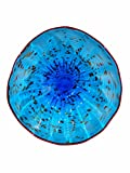 Dale Tiffany Favorite Art Glass Collection Wrightwood Wall Decor, 9', Blue