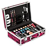Vokai Makeup Kit Gift Set - 51 Piece - 32 Eye Shadows, 2 Blushes, 2 Lip Glosses, 2 Lipsticks, 2 Eye Liner Pencils, 1 Lip Liner Pencil, 1 Mascara - Case with Carrying Handle