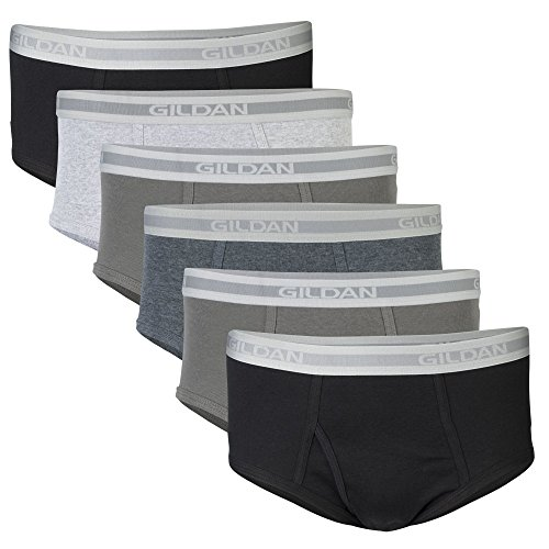 Gildan mens Underwear Multipack Briefs, Grey/Black (6 Pack), XX-Large US